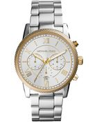 Michael Kors Stainless Steel And Gold Tone Watch - Lyst