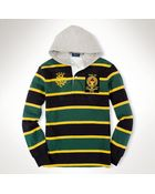Polo Ralph Lauren Customfit Hooded Rugby - Lyst