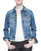 Ag Adriano Goldschmied Robyn Distressed Denim Jacket - Lyst