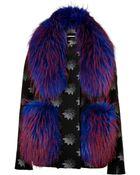 Matthew Williamson Jacket With Fur Shawl - Lyst