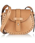 Michael Kors Claire Whipstitched Leather Shoulder Bag - Lyst