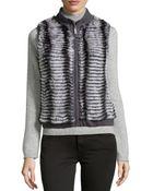 Gorski Layered Rabbit Fur Vest - Lyst