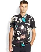 Paul Smith Abstract-Print Shirt - Lyst
