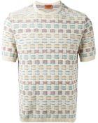 Missoni Short Sleeve Woven Sweater - Lyst