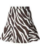 MICHAEL Michael Kors Zebra Print Flared Skirt - Lyst