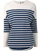 Adam Lippes Striped Sweater - Lyst