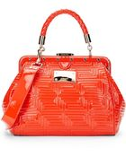 Versace Couture Quilted Patent Leather Satchel - Lyst