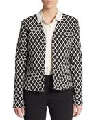 Ellen Tracy Diamond-Print Jacket - Lyst