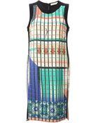 Etro Woven Mixed Print Dress - Lyst