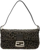 Fendi Ricami Embroidered Baguette Bag - Lyst