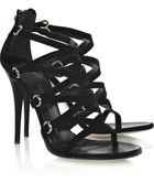 Giuseppe Zanotti Suede Multi-strap Sandals - Lyst