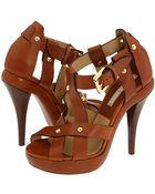 Michael Kors Leather Sandals - Lyst