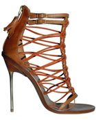 Emilio Pucci 120mm Multi String Cage Sandals - Lyst