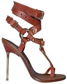 Emilio Pucci 120mm Criss Cross Ankle Thong Sandals - Lyst
