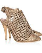 Sigerson Morrison Woven Leather Shoe Boots - Lyst