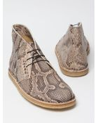 Acne Studios Mens Desert Snake Skin Boot - Lyst