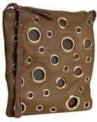 Linea Pelle Teak Leather Grommet Mini Crossbody Bag - Lyst