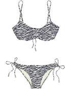 Melissa Odabash Fiji Zebra-print Ruched Bikini - Lyst