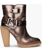 Belle By Sigerson Morrison Shearling Platform Booties - Lyst