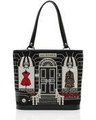 Lulu Guinness Black Medium Couture Shop Edith - Lyst