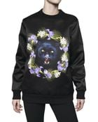 Givenchy Printed Panther Face Duchesse Sweatshirt - Lyst