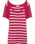 Sonia By Sonia Rykiel Knitted Striped Silk Top - Lyst