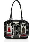 Lulu Guinness Black Large Couture Shop Jenny - Lyst