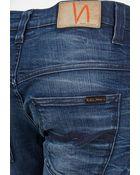Nudie Jeans Thin Finn Jean In Organic Strikey Used Blue - Lyst