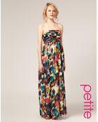 ASOS Collection Asos Petite Multi Smudge Print Maxi Dress - Lyst
