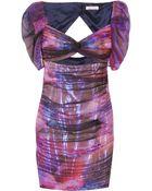 Matthew Williamson Ruched Silk-organza Dress - Lyst