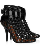 Givenchy Patent-leather Cage Ankle Boots - Lyst