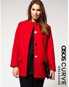 ASOS Collection Asos Curve Exclusive Collarless Coat - Lyst