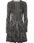 Alexander McQueen Knitted Silk and Wool-blend Intarsia Dress - Lyst