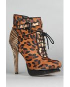 Sam Edelman The Uma Shoe in Brown Leopard Multi - Lyst
