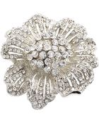 Cara Accessories Oversize Pavé Flower Stretch Ring - Lyst