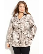 Gallery Animal Print Trench  - Lyst