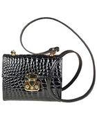 Fontanelli Small Croc-Embossed Leather Handbag - Lyst