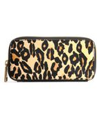 Hobo International Lucy Leopard-Print Wallet - Lyst