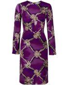 Mary Katrantzou Bow Print Shift Dress - Lyst
