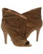 Maison Margiela Leather Scale Embellished Ankle Boots - Lyst