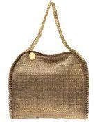 Stella McCartney Metallic Boucle Falabella Bag - Lyst