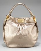 Marc By Marc Jacobs Hillier Metallic Hobo - Lyst