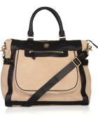 Tory Burch Carlin Two-tone Leather Tote - Lyst
