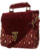 Topshop Jaquared Velvet Box Bag - Lyst