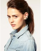 ASOS Collection Asos Wing Star Ear Cuff - Lyst