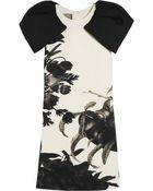 Giambattista Valli Floral-print Wool-crepe Dress - Lyst