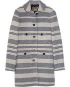 J.Crew Stadium-cloth Striped Wool-blend Coat - Lyst