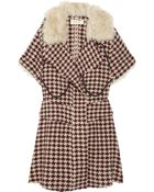 Marni Shearlingtrimmed Houndstooth Wool Coat - Lyst