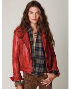 Free People Muubaa Vintage Leather Jacket - Lyst