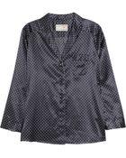 Aubin & Wills Harford Polka-Dot Silk-Blend Pajama Shirt - Lyst